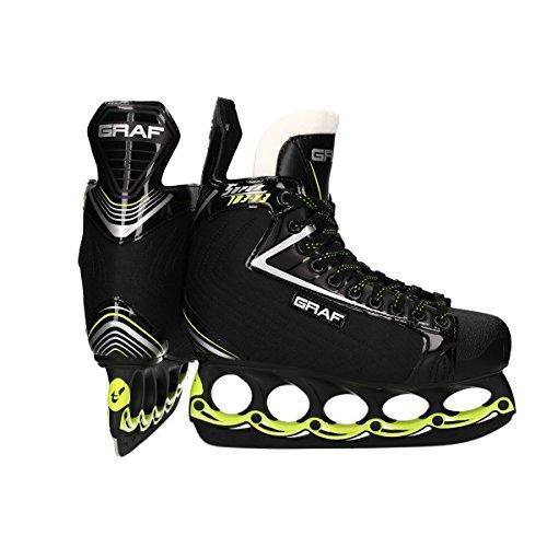 GRAF Super G 103 V3 Skate mit T - Blade System Black Edition, Weite :E = Wide, Größe:11.5 = 46 2/3
