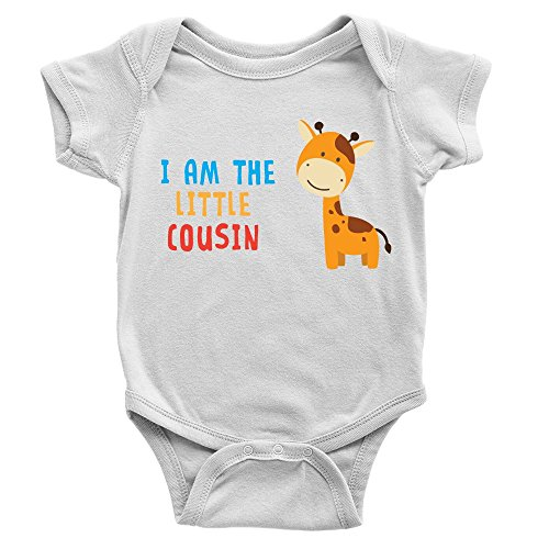 I Am The Little Cousin Babygrow 0-3m White Cute Sweet Body Suit Present...
