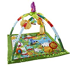 Infant gym with 3 ways to play as your baby grows from lay and play to tummy time and take-along 10+ toys and activities, plus a removable, take-along toucan with music and colourful lights Baby's kicks and motion activate the toucan's fun sound effe...