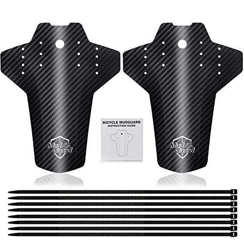 Dailing Bike Mudguard Set, Universal Mountain Bike Fender Adjustable Bicycle Fenders Set MTB Mud Guard Front and Rear Compatible for 26', 27.5', 29' Size Mountain Bike-2Pack