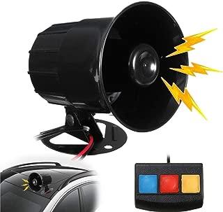 30W Motorcycle Car Alarm Horn 3 Sounds Loud Motorbike PA System Horn Amplifier Speaker Warning Alarm