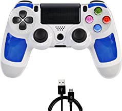 PS4 Controller MOVONE Wirelles Controller with USB Cable for Sony Playstation 4 (White)