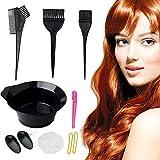 Kit de coloration de cheveux, bol de mélange, brosse de teinture de cheveux, ensemble d'outils de teinture de coiffure bricolage, kit d'accessoires d'outils de teinture de cheveux (10 pieces)