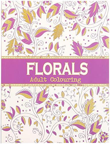 infactory Ausmalbuch Erwachsene: Malbuch für Erwachsene Florals mit 32 ornamentalen Pflanzen-Motiven (Malvorlage)