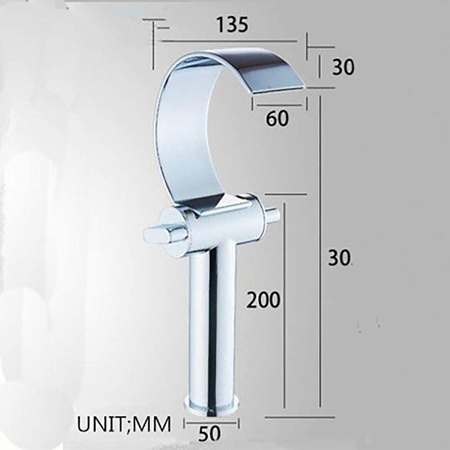 GMPRNQB redating double open curved waterfall basin faucet, chrome-plated brass lead-free environmentally friendly wide-brimmed hot and cold waterfall above counter basin faucet,305(mm)