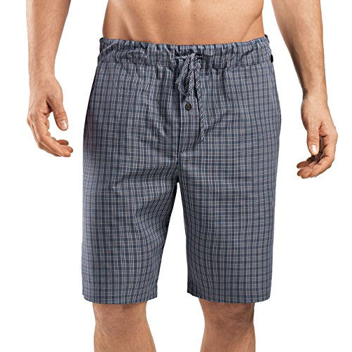 Hanro Herren Night & Day Hose kurz Shorts, Mehrfarbig (Grey Check 1045), 52 (Herstellergröße: L)