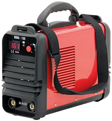 Tragbares Inverter Schweißgerät MMA-160, 230V, IGBT-Gleichrichtertechnik, ARC Force Steuerung, Digital-Anzeige, bis 160A, Kompakt Elektroden-Schweißgerät für Lichtbogenschweißen geeignet
