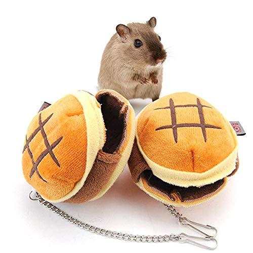 Souarts Kleine Tier Haus Nest Gemütlich Warm Plüsch Baumwolle Schlafen Bett Höhle Zubehör für Kaninchen Hamster Meerschweinchen Chinchilla