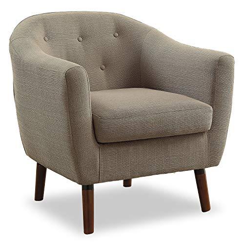 Homelegance Fabric Barrel Chair, Beige