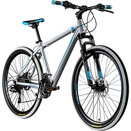 Galano 27,5 Zoll 650B MTB Toxic Mountainbike Scheibenbremsen (Silber/blau, 46 cm)