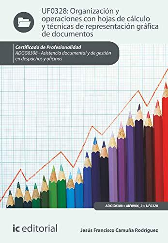 Organización y operaciones con hojas de cálculo y técnicas de representación gráfica en documentos. ADGG0308 - Asistencia documental y de gestión en despachos y oficinas