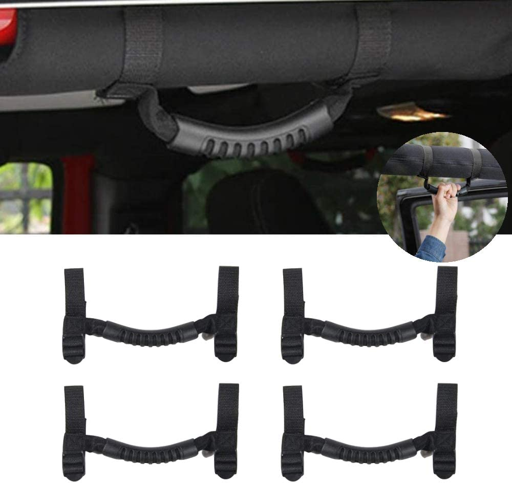 4 Pcs Roll Bar Grab 2021 spring and summer new Handles Grip for Handle Jeep 1987-2020 Wran Spring new work