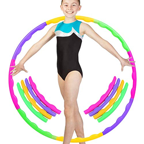 8 Abschnitte Hula-Hoop-Reifen für Kinder,Kinder Hula Hoop Reifen farbig,Fitness Hula Hoop Reifen,Fitness Hula Hoop,Gymnastik Kreis,für Training,Sport & Spiel,Abnehmbare Fitness Hula Hoop Reifen (A)