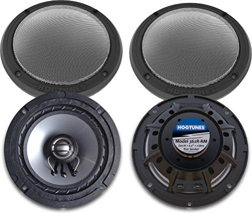 Hogtunes 362R-RM Gen3 6.5' 2 Ohm Replacement Rear Speakers With Grills for 2014+ Harley-Davidson FLH Touring Models 362R-RM
