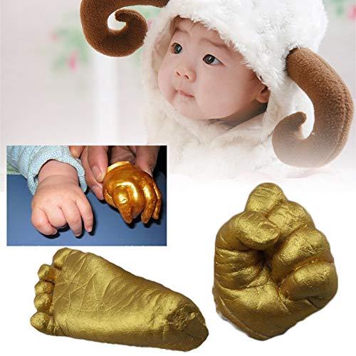 PZNSPY Gips Voetafdruk Baby Hand Voet Mould Gieten Poeder Set Prints Cast Gift