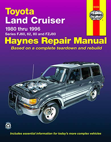 Download Toyota Landcruiser Series FJ60, 62, 80 and FZJ80, 1980-1996 (Haynes Manuals) 1563923017