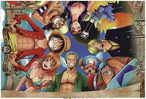 Wapipey 300 500 1000 Pezzi One Piece Partner Cartoon Anime Puzzle in Legno Puzzle Bambini Giocattoli educativi Decorazione Dominazione Decorazione della Casa (Size : 300Pcs)
