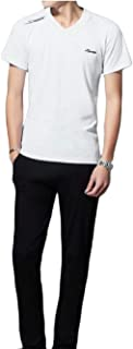 Maweisong Men's Shirt Long Pant Sports Tracksuits 2 Pieces Sets