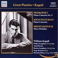 Prokofiev: Piano Concerto No.3 / Khachaturian: Piano Concerto / Shostakovich: Three Preludes