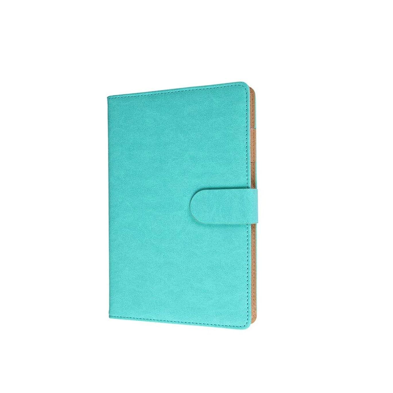 無実すすり泣きマキシムノートブック、メモ帳、ビジネスノートブック、オフィス会議ノート、200ページA5マグネットバックルブック、ブラウン/シアン/グレー/ブラウン/ブラック、高品質 (Color : Blue)
