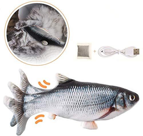 Charminer Elektrisch spielzeug Fisch, Katzenspielzeug mit Katzenminze Kauen Spielzeug für Katze zu Spielen, Beißen, Kauen und Treten