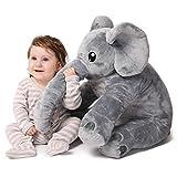 corimori- Nuru el Elefante (6+ Modelos) Animal de Peluche Juguete Bebés Niños, 60cm, Color Gris (1849)