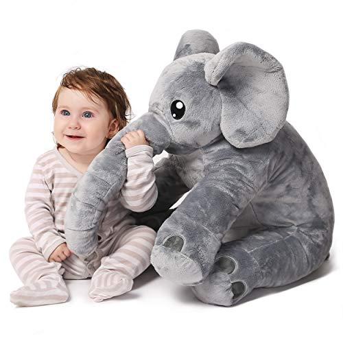 corimori® - Elefant Nuru großes XXL Kuscheltier für Kleinkinder, bauschig und weich, kuschel-softe Qualität, grau