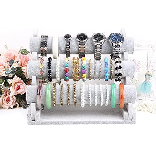 MUY Soporte de Pulsera Soporte de exhibición de joyería Reloj Brazalete Bar Collar Organizador de Almacenamiento Caja de Recuerdo del Primer día