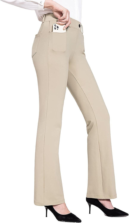 BALEAF Women's Bootcut Yoga Dress Pants Stretchy Work Business Slacks Petite Regular Comfort Trousers with 4 Pockets : Sports & Outdoors