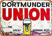 ドルトムンダーユニオンビールブリキサイン壁の装飾金属ポスターレトロプラーク警告サインオフィスカフェクラブバーの工芸品