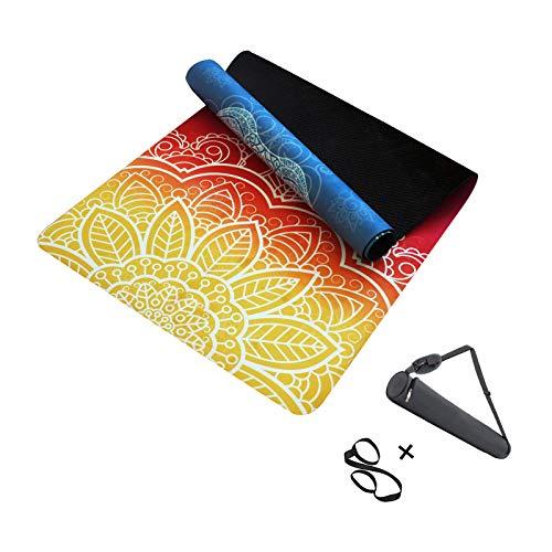 MINCHEDA Esterilla de Yoga Antideslizante con Bolso para Colchoneta de Ejercicios, para Pilates, Ashtanga, Hatha, 183 X 68 X 0,5 CM