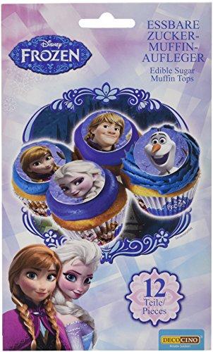 Dekoback Essbare Zucker-Muffinaufleger Frozen, 1er Pack (1 x 12 teile)