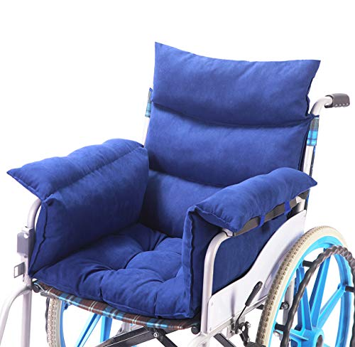 Trendcode Wheelchair Cushion Soft Cotton Wheelchair Accessory Helps Prevent Pressure, Blue