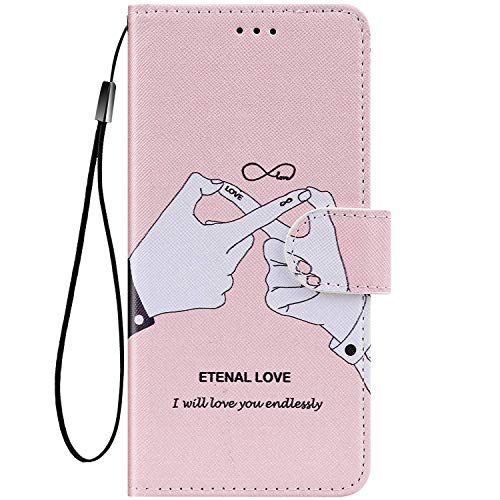 Kompatibel mit Nokia 3.1 Plus Hülle Bunte Painted Muster Schutzhülle,Tasche für Nokia 3.1 Plus Handyhülle Magnet Klapphülle PU Lederhülle mit Kartenfach/Standfunktion - Finger