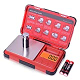 Fuzion Pocket Scale 0.01g/200g, Gram Scale with 6 Units Conversion, Small Scale with LCD Display, Tare Function, Suitable for Coins, Powder, Jewelry, Herbs, Spices (Battery Included)