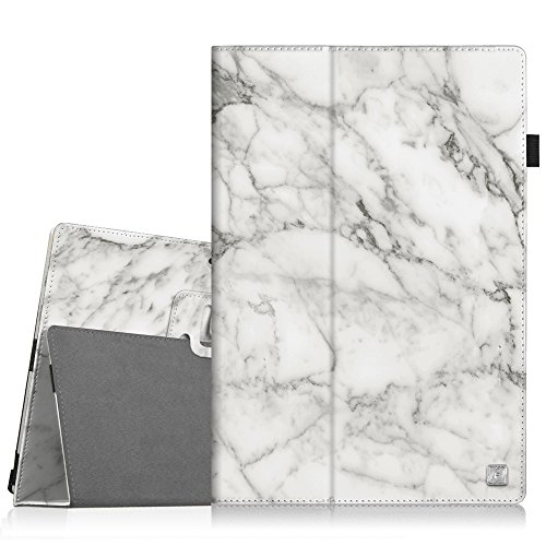 Fintie Case for Surface Pro 7+ / Pro 7 / Pro 6 - Premium Vegan Leather Slim Fit Folio Cover with Stylus Holder, Compatible with Microsoft Surface Pro 5 / Pro 4 3 and Type Cover Keyboard (Marble)
