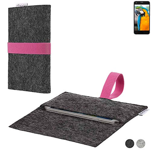 flat.design Handy Hülle Aveiro für Vestel V3 5040 passgenaue Filz Tasche Case Sleeve Made in Germany