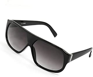 uxcell サングラス ファッション小物 メガネ ブラック  フルフレーム 角型レンズ 保護 女性用
