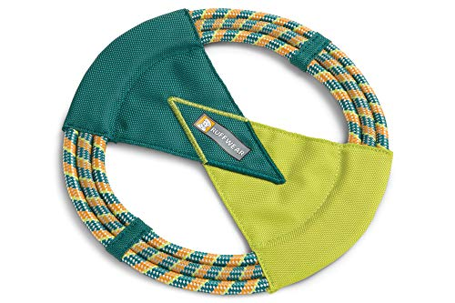 Ruffwear Hundespielzeug zum Werfen, Fangen, Ziehen, Frisbee, One Size, Dunkelgrün (Tumalo Teal), Pacific Ring, 6035-417