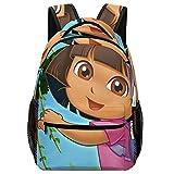 Dora Boots Mochila de 16.5 pulgadas, elegante mochila de colegio universitario, resistente al agua, mochila casual para portátil para adolescentes y niñas de viaje