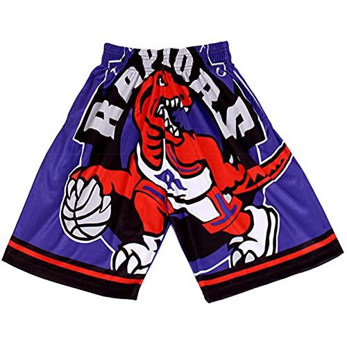 Raptors Retro Basketball Shorts Basketball Sporthose Schnell Trocknend Atmungsaktiv Leicht Fünf Punkt Pants Laufen Wettkampf Training und Fitness XL