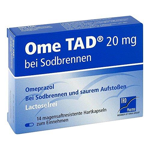 Ome TAD 20 mg magensaftresistente Hartkapseln bei Sodbrennen, 14 St. Kapseln