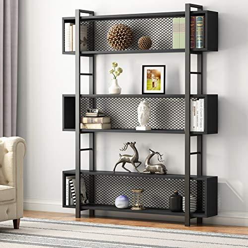Tribesigns 5-Shelf Bookshelf with Metal Wire, Vintage Industrial Bookcase Display Shelf Storage...
