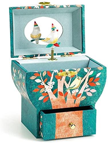 XUEYE Bonita Capa Doble De Madera Caja De Música Giratoria Twilight Song Jewelry Cajas Musicales para Niñas Cumpleaños Moda De Acción De Gracias