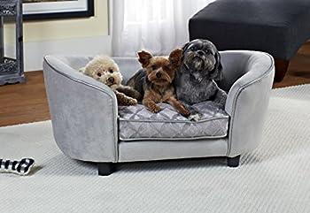 Canapé pour chien - Lit pour chien avec sac de rangement et taie d'oreiller lavable
