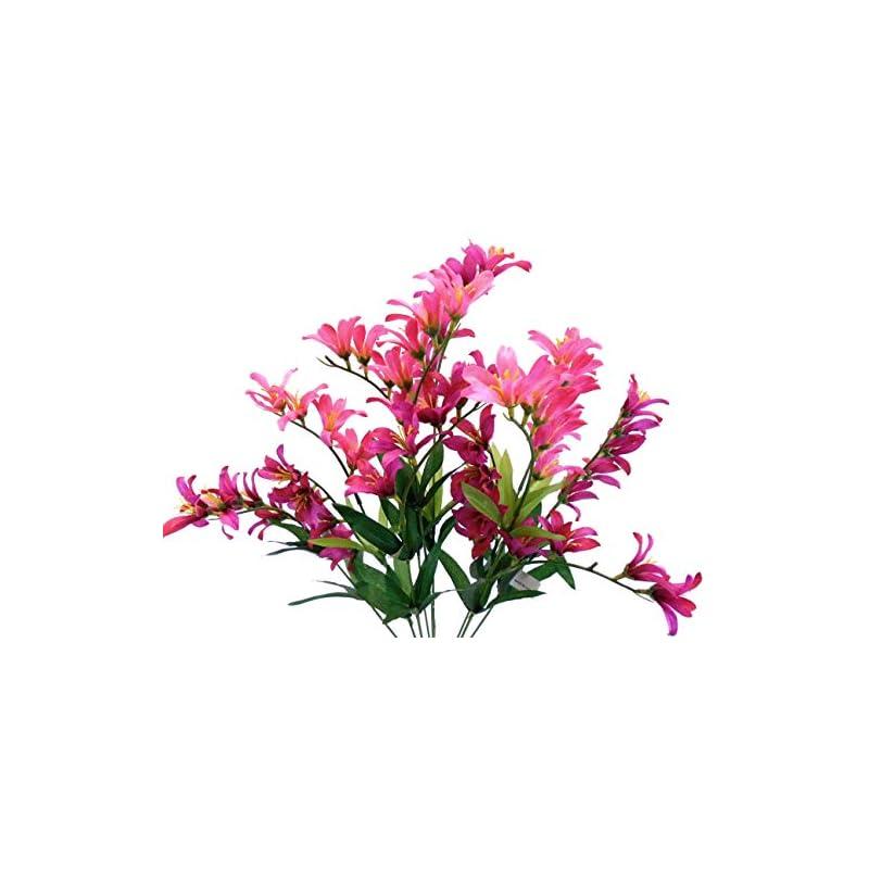 """silk flower arrangements freesia bush artificial silk flowers 9-6218 21"""" bouquet 9-6218"""