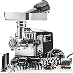 "STX Turboforce II""Platinum"" w/Foot Pedal Heavy Duty Electric Meat Grinder & Sausage Stuffer"