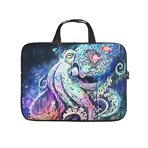 Ink Octopus Laptop Case Sleeve Bag Large Tote Bag for Computer Notebook White 13 Zoll