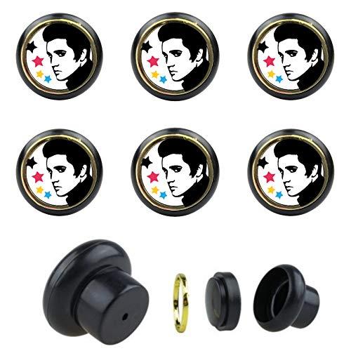 KSTS_26_Arco 38 Presley - Set di 6 pomelli universali per mobili, per armadio, cassetto, comò, porta, cucina, bagno, casa, cameretta dei bambini
