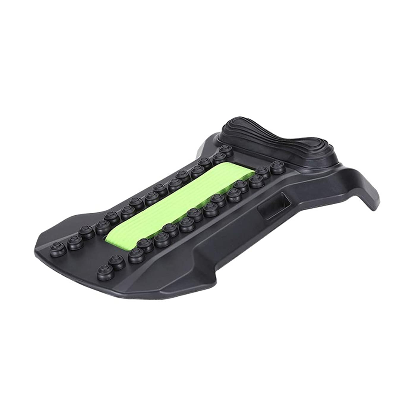 多様な常習者秘書背部マッサージャーの伸張装置、腰椎サポート弛緩の魔法の伸張器の適性の仲間の脊椎の痛みを和らげるカイロプラクター,Green